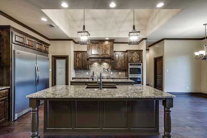 Custom Gourmet Designer Kitchen Construction in Chico, Texas