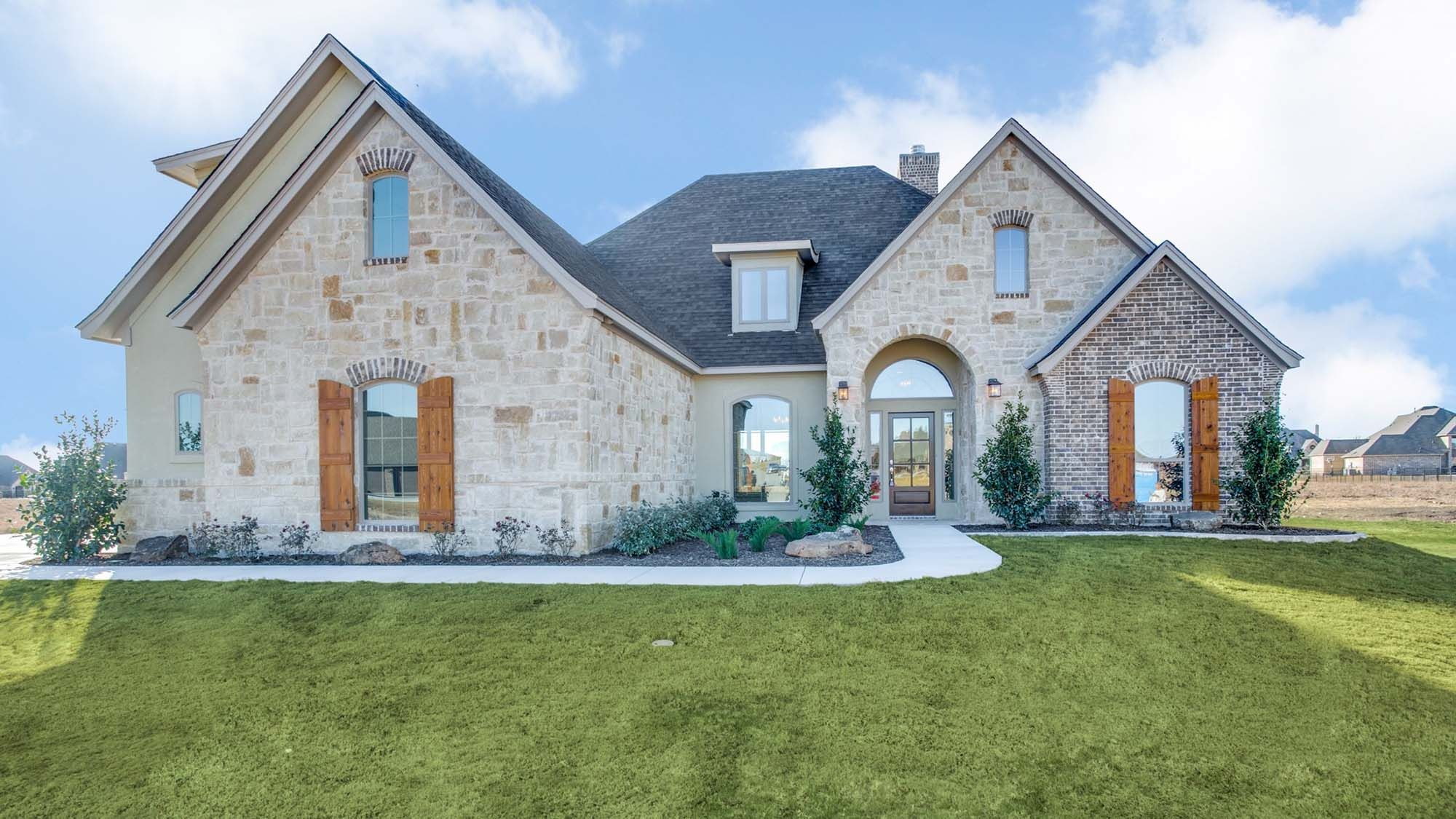 Custom French Contemporary Home in North Texas
