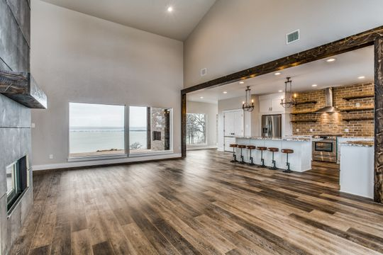Open Floor Plan and Stunning View of the Lake