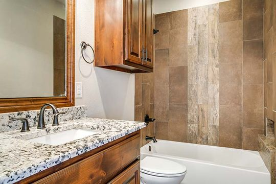 Luxury Bathroom in North Central Texas Custom Home