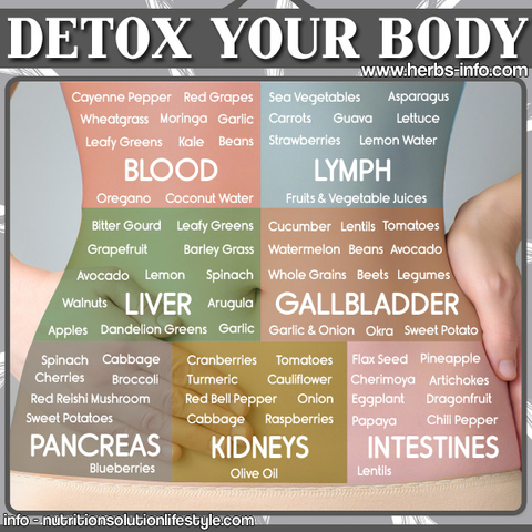 Detox Your Body Chart