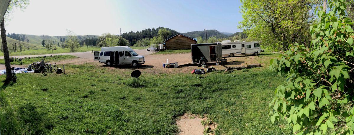 Day 1, setting up. Spearfish, South Dakota