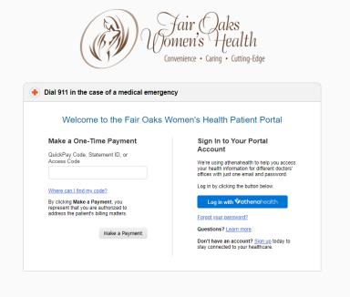 Patient Portal Fair Oaks Women S Health