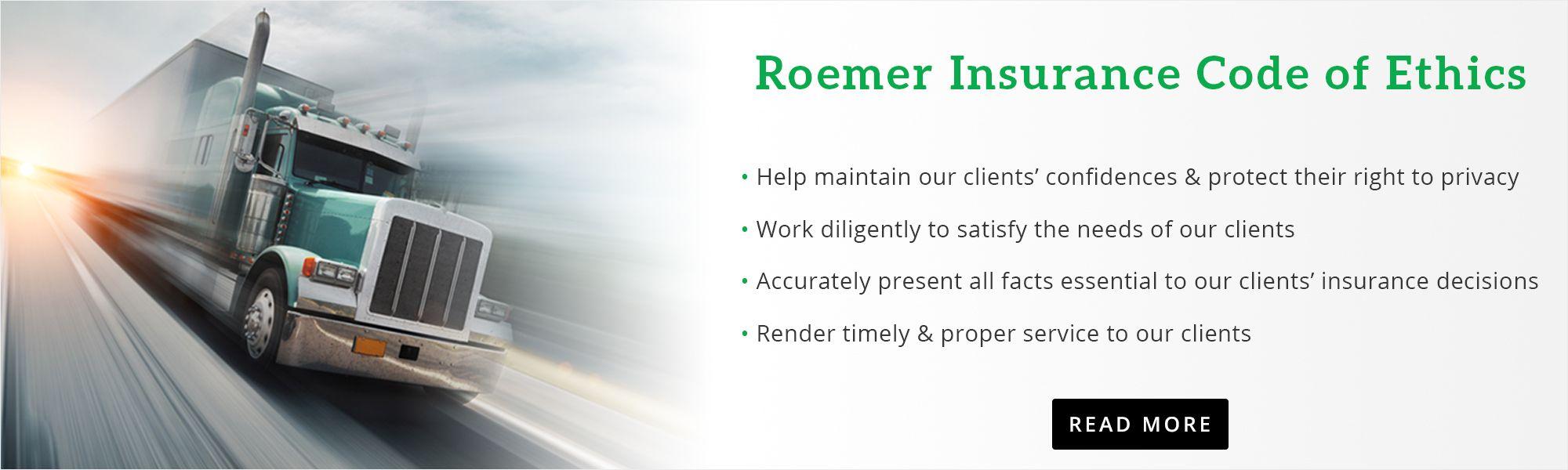 Roemer Insurance Code of Ethics