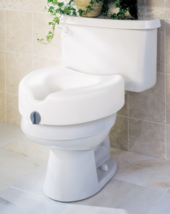 Raised Toilet Seat Without Handles