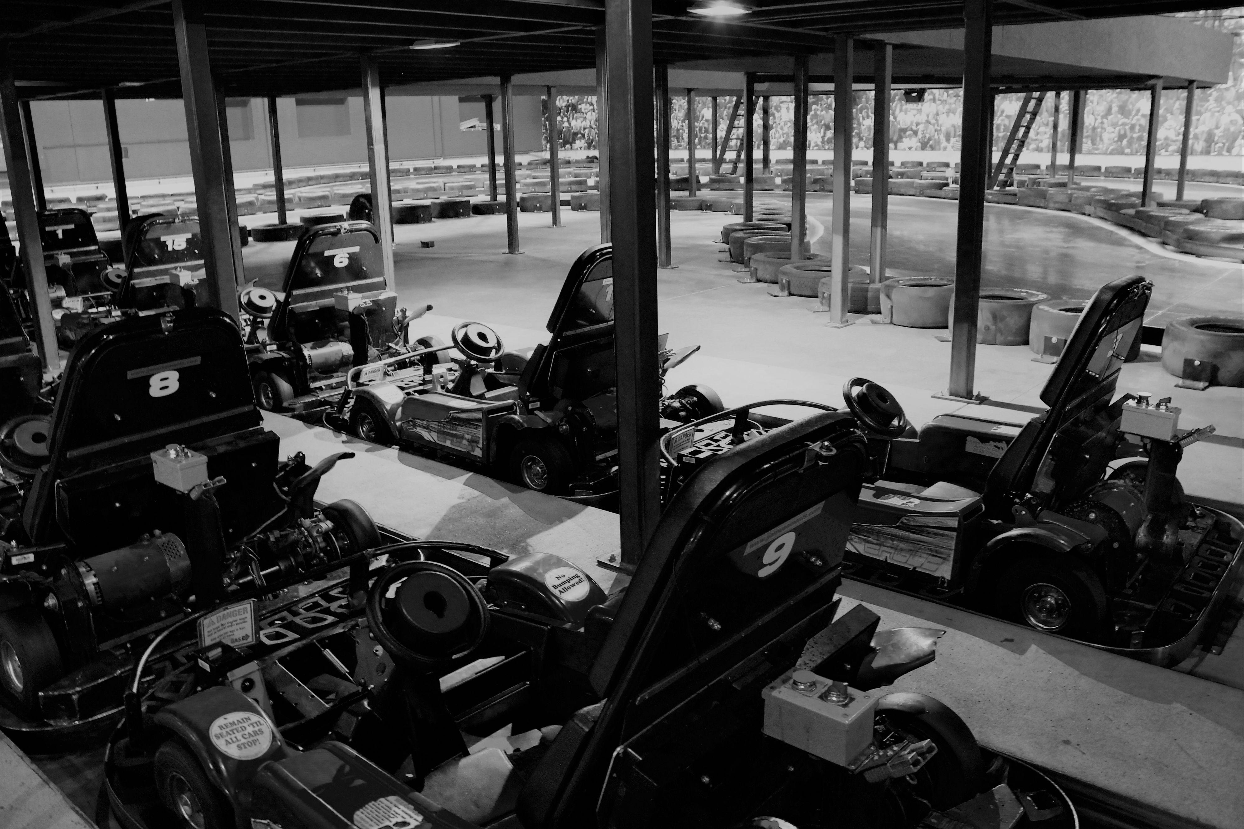 Go Karts - Indoor 1 BW.jpeg