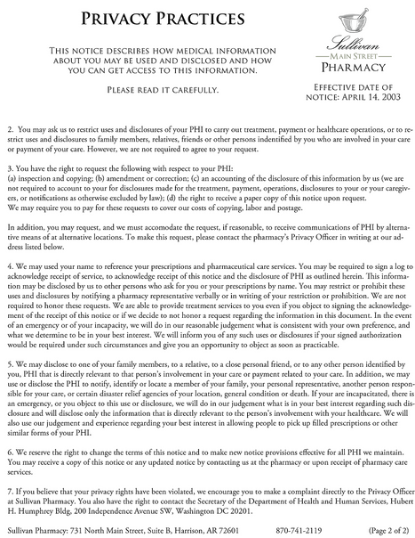 Privacy Practices, Page 2