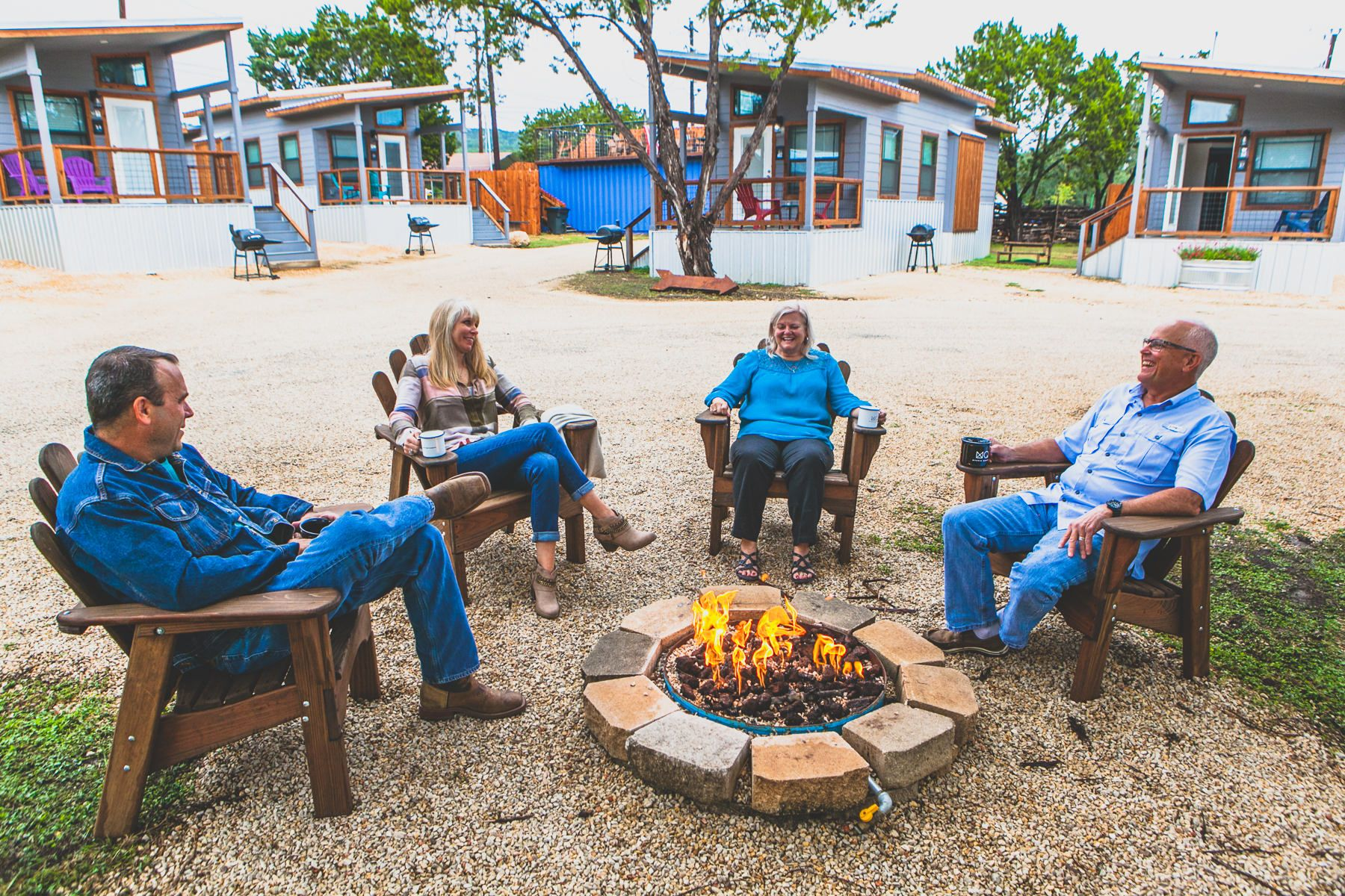 Propane Fire Pit & Good Conversation in Canyon Lake with Friends and Family