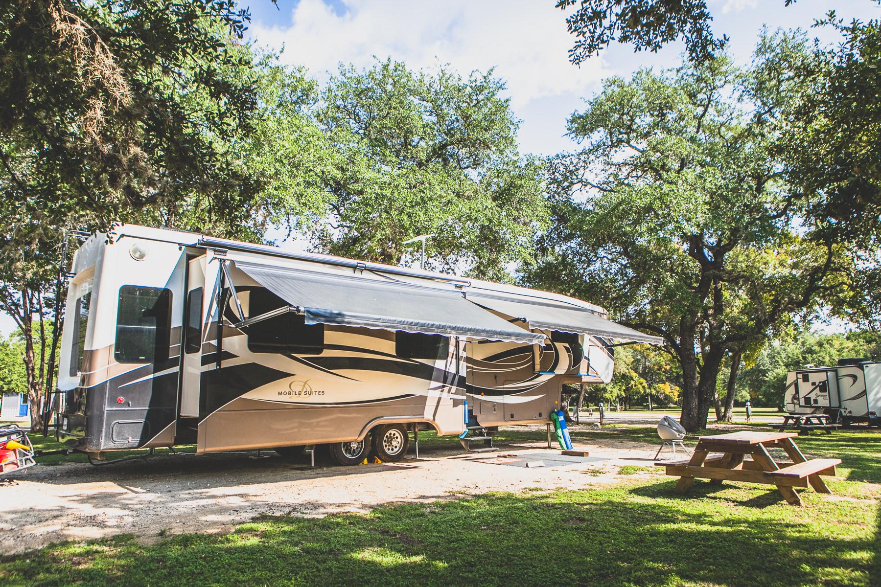 RV life in Canyon Lake, Texas