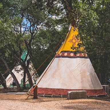 #5 Camp Verde Glamping Tipi  (in back, green)