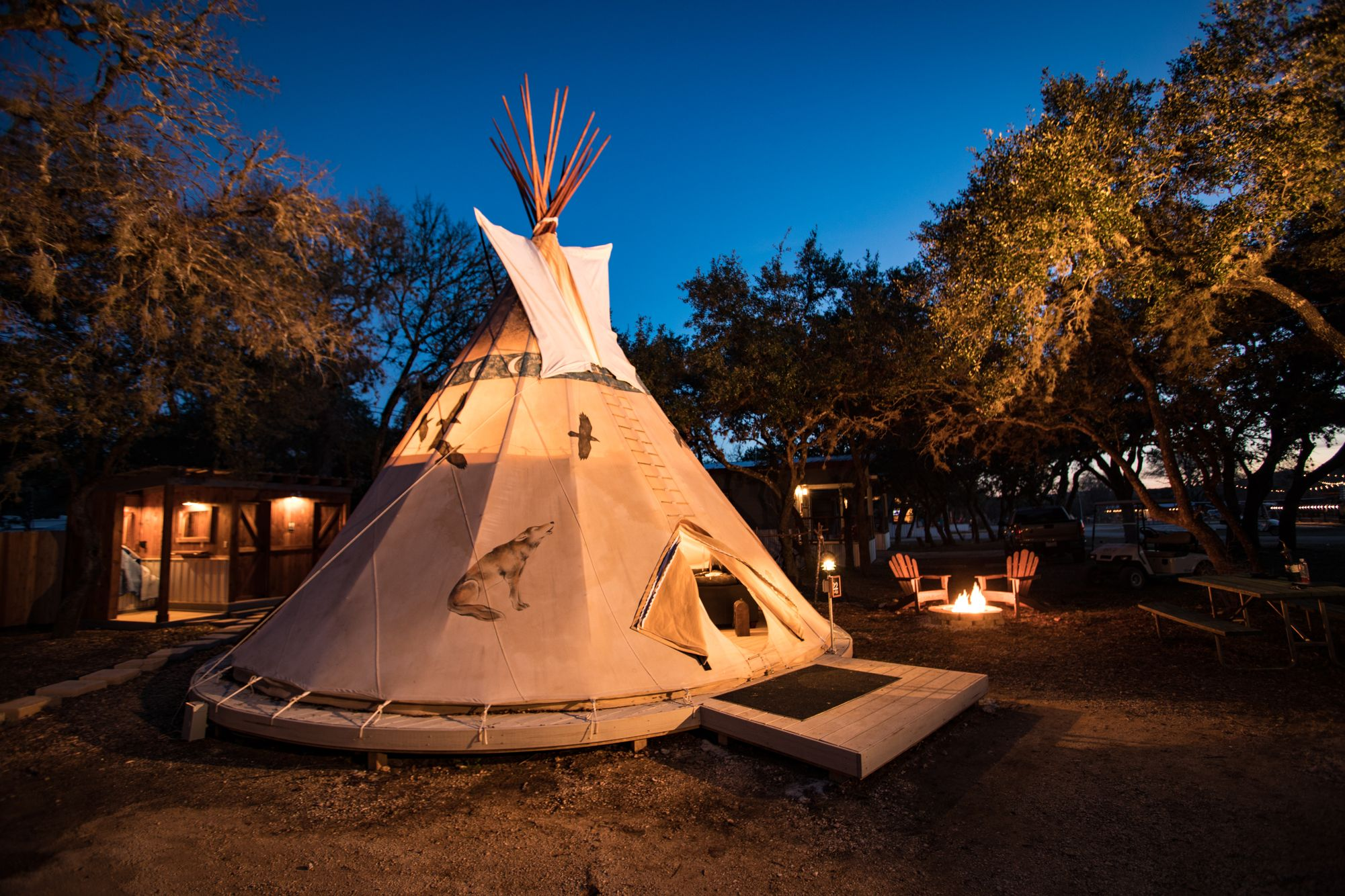 Tipi Camping in Texas