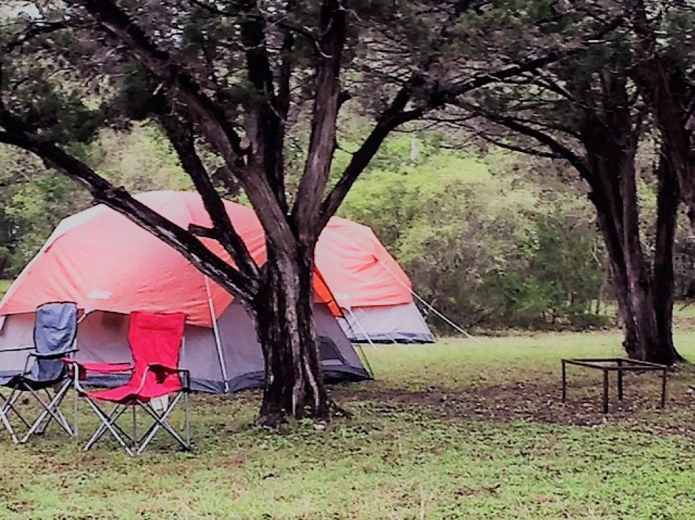 Camping near San Antonio, Texas