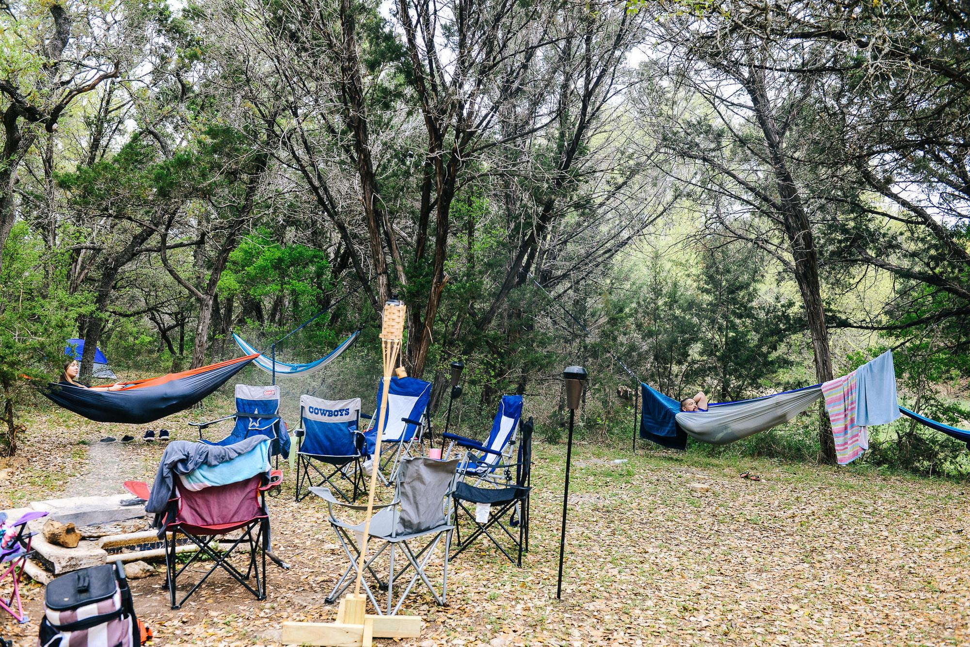 True primitive camping