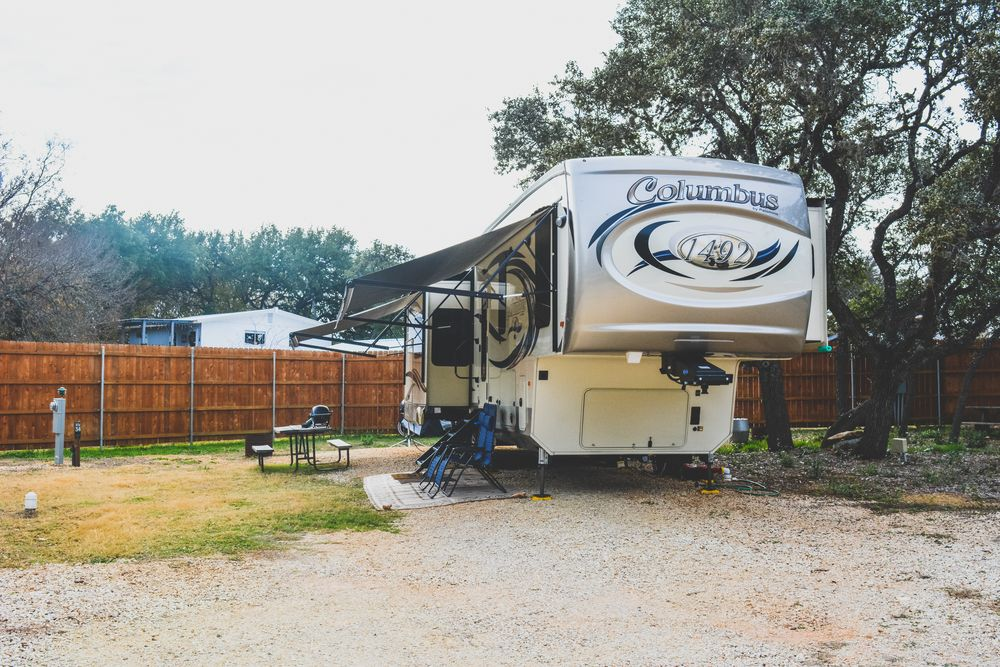 Front of the Canyon Lake RV Park Site #35