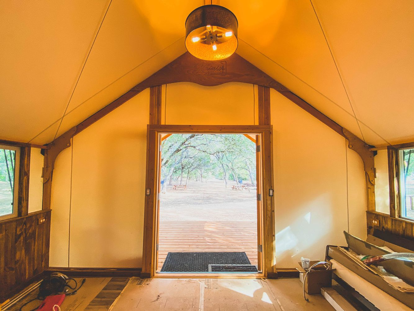 Interior of Safari Tent looking out