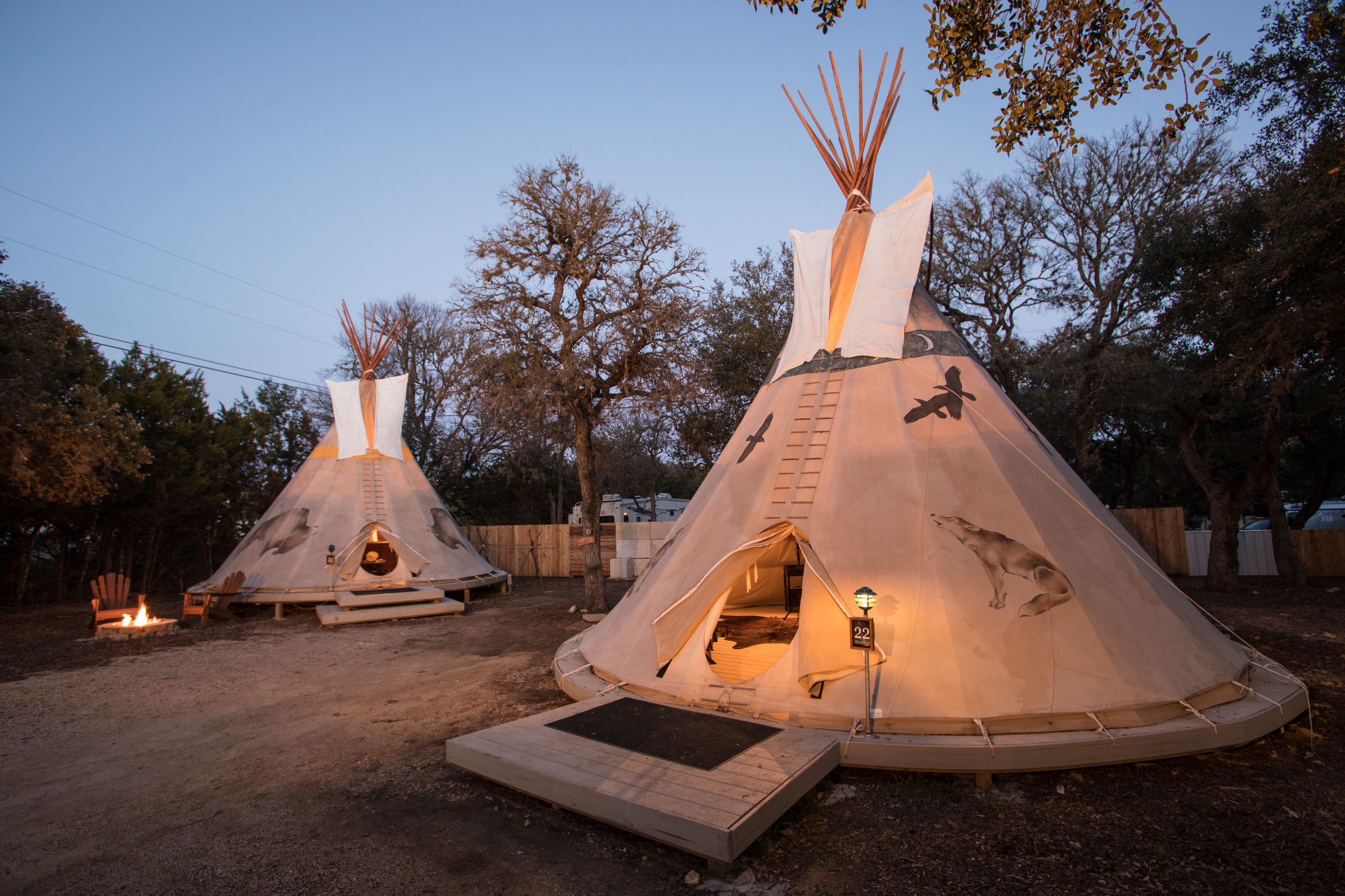 Tipi and Yurt Rental Texas Hill Country