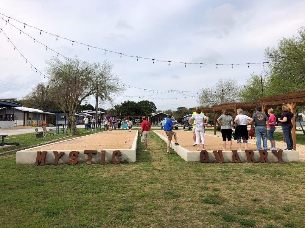 Winter Texas Bocce Game