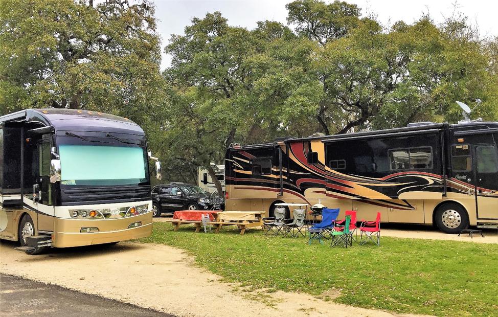 RV Camping in Canyon Lake, Texas