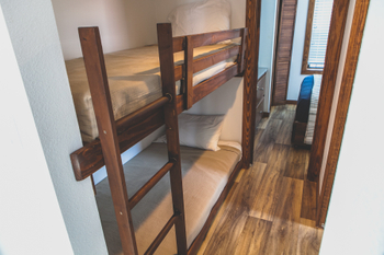 Rustic Bunk Beds with Stairs