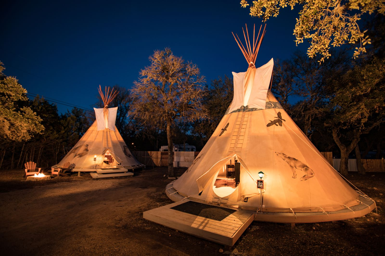 Blanco and Cibilo Tipis Night Shot