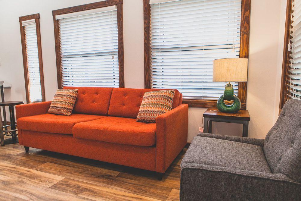 Cabin Rental with Modern Rustic Furniture
