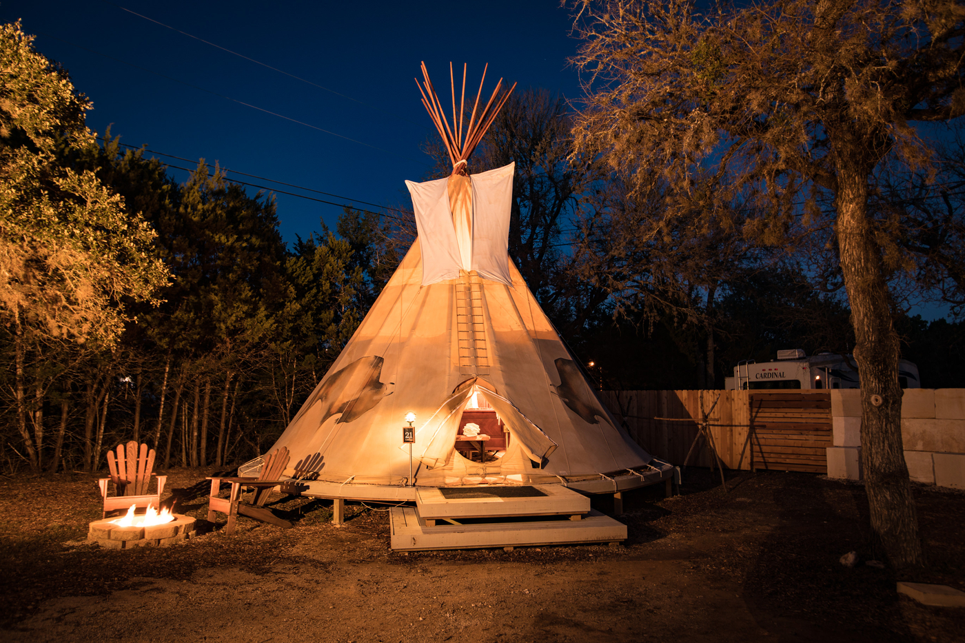 Cibilo Tipi during the evening