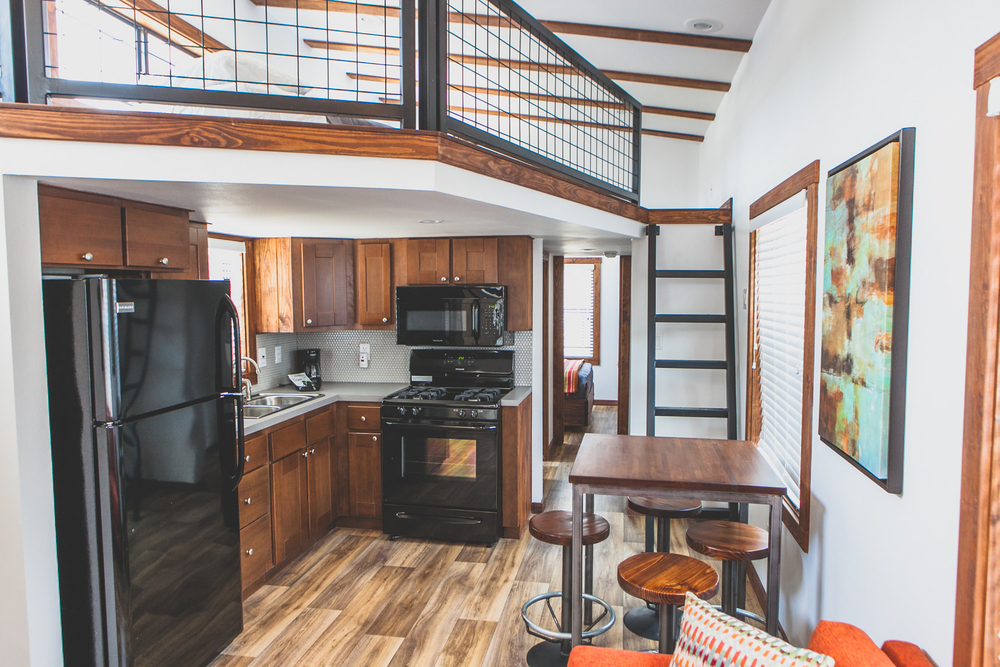 Tiny House Loft Overhang