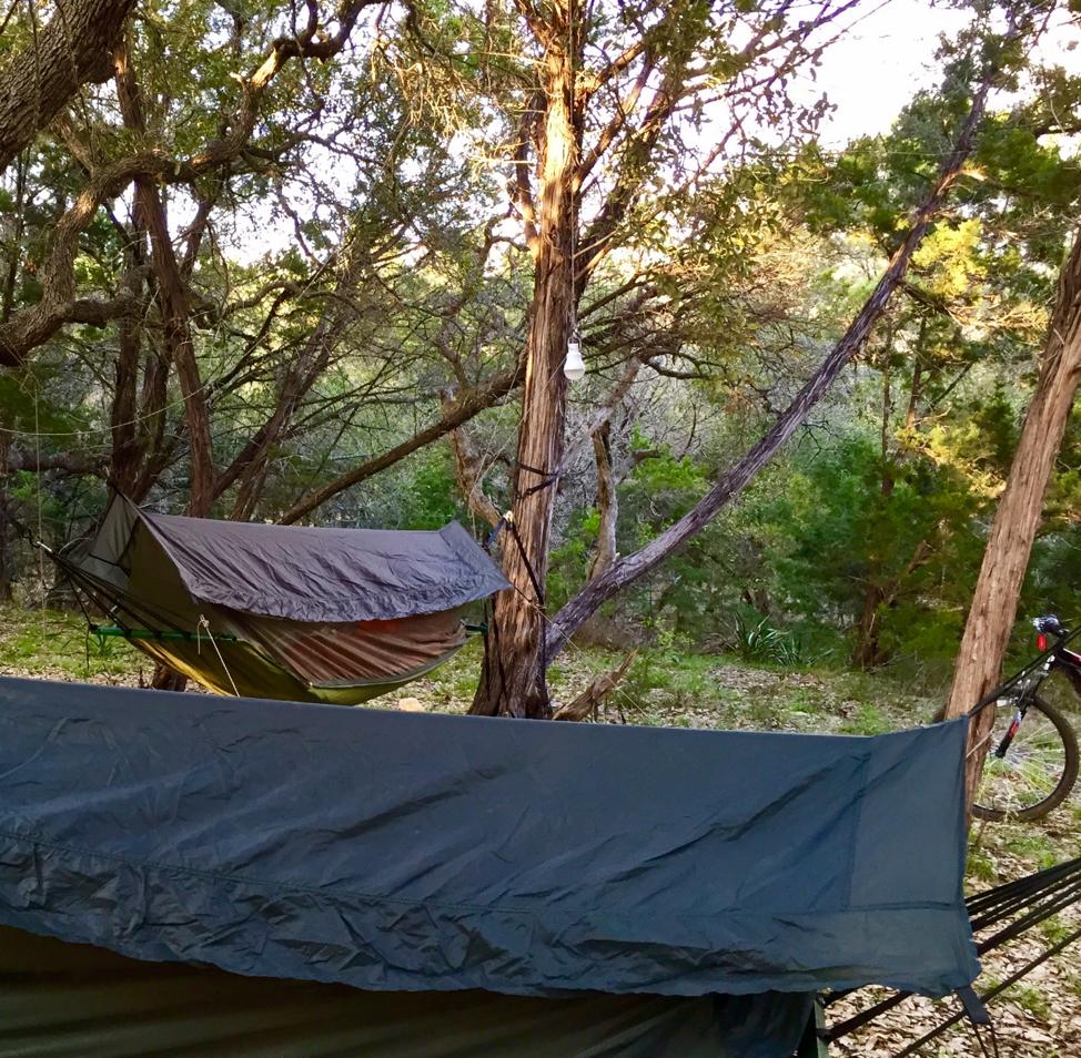 Hammock Camping close to New Braunfels, Texas