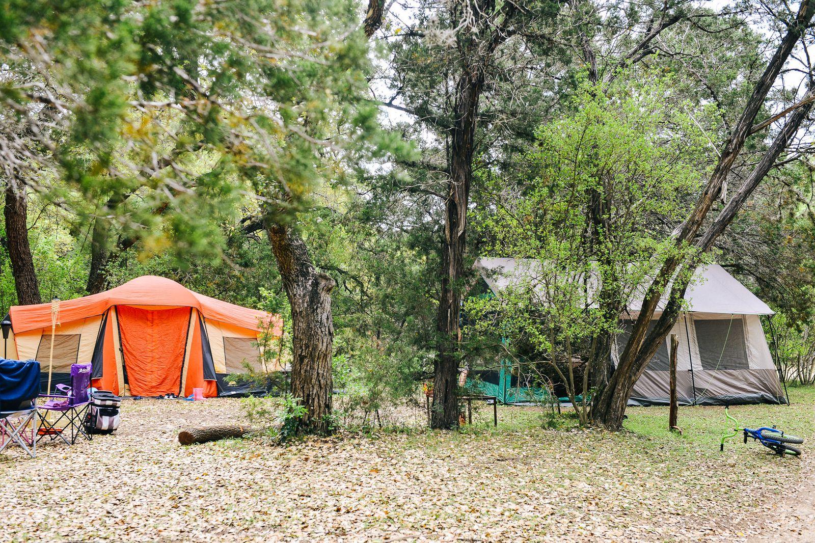 MQ Tent Camping Near Austin, Texas