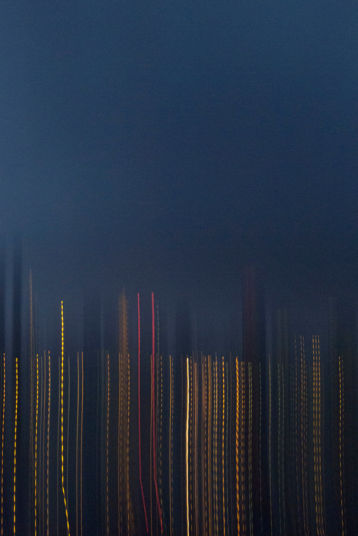 NYC from Brooklyn, 2013, Abstract Color Photography, Shirine Gill