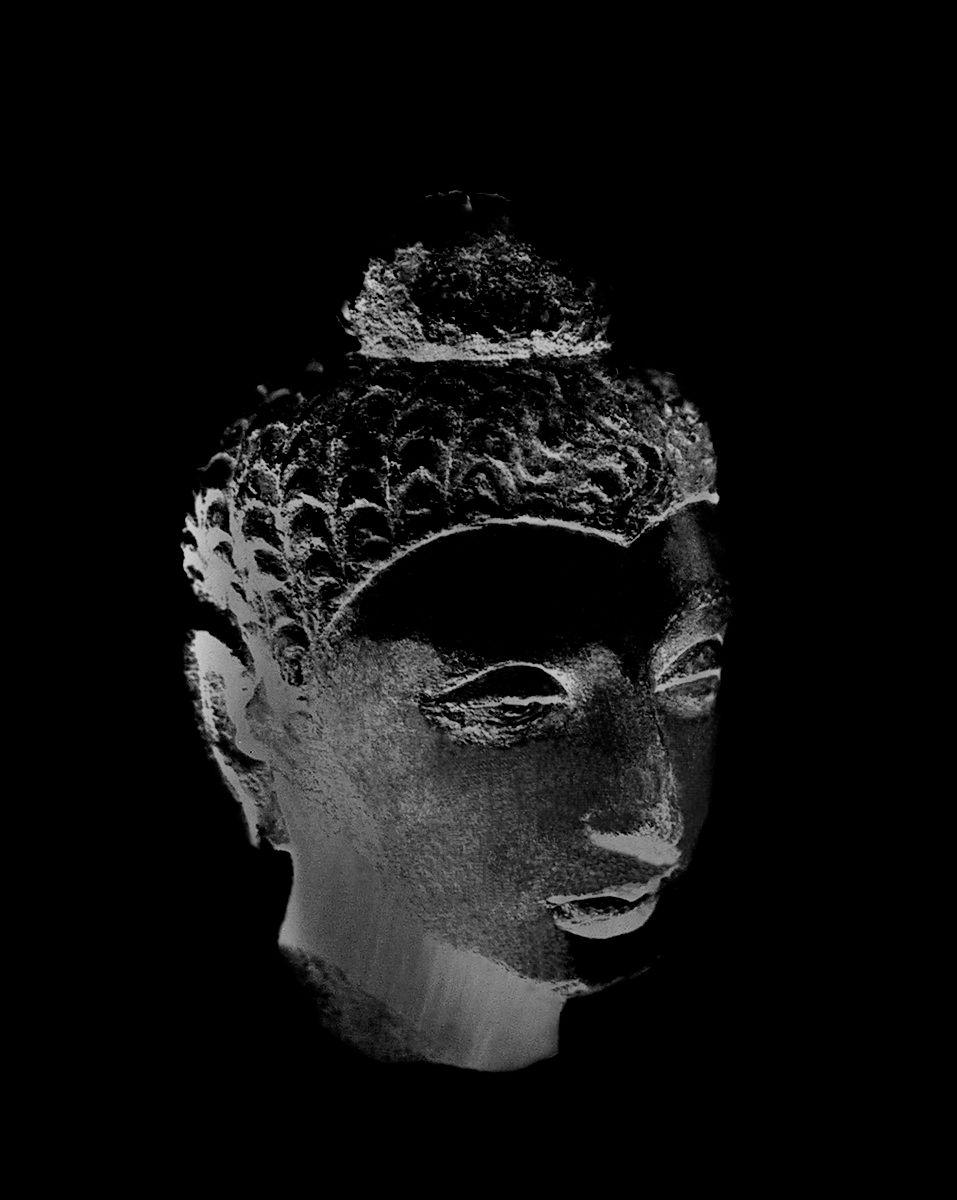 Gandharan Buhddas, 2010, Black and White Abstract Photography, Shirine Gill