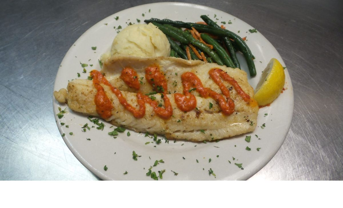 Roasted Red Pepper Walleye