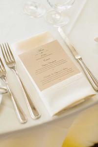 wedding reception menu design