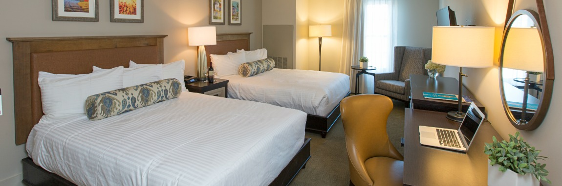 Double Queen Guest Rooms at The Inn