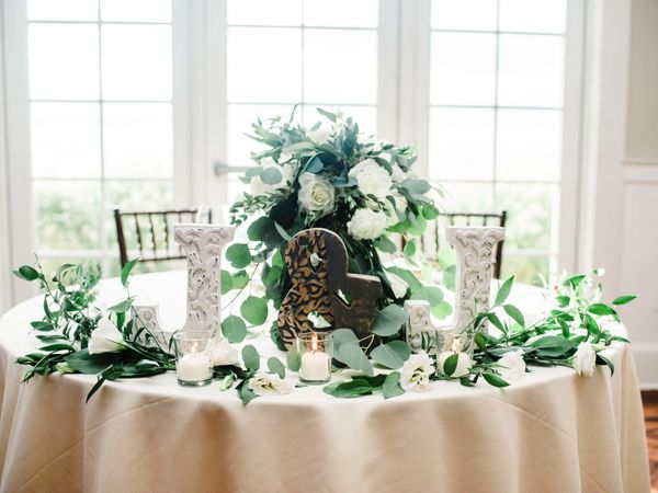 Sunset Ballroom - Sweet Heart Table