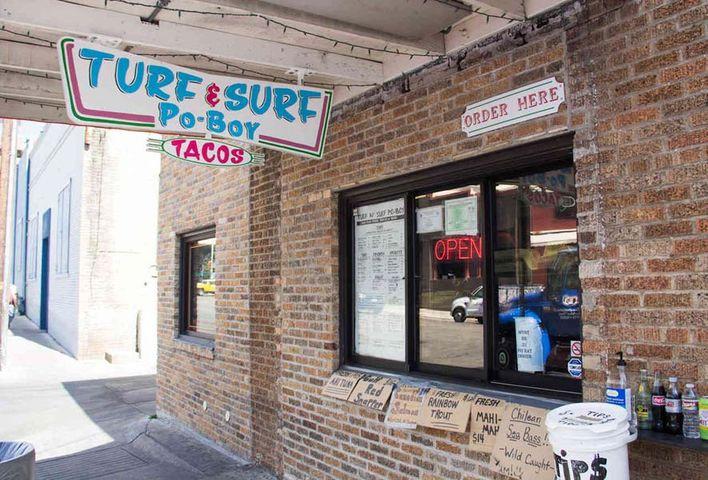 HOME OF TURF N SURF PO BOY