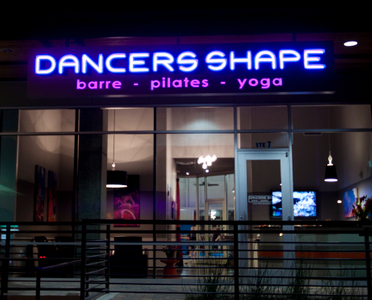 dancers shape store front