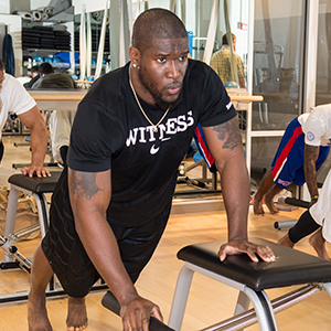 Brian Orakpo Chair workout