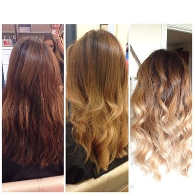 Brunette to Blonde Ombre by Chenoa at Urban Betty.jpg