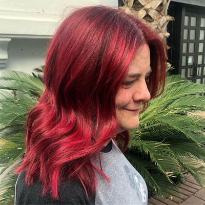 Red Hair | Vibrant Red Fashion Color
