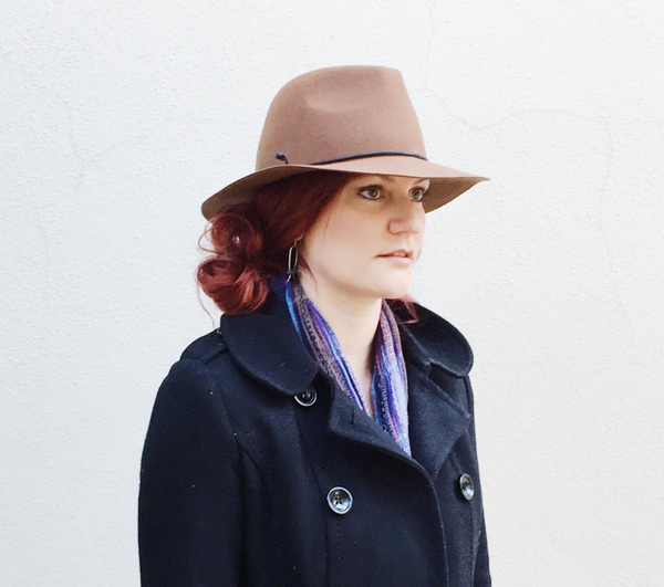 Side Bun with Panama Hat