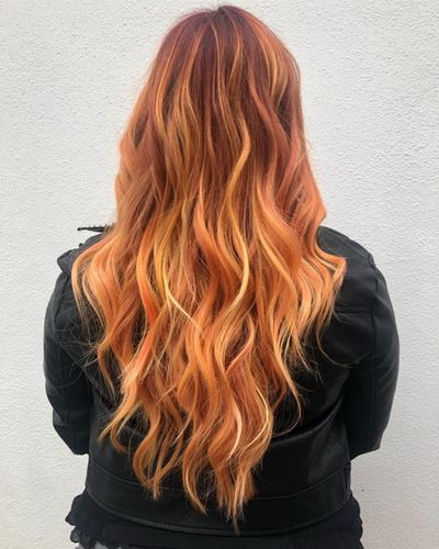 Multicolored Hair | Fire Red