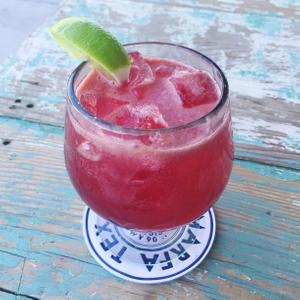 Hibiscus Margarita at Capri Kitchen