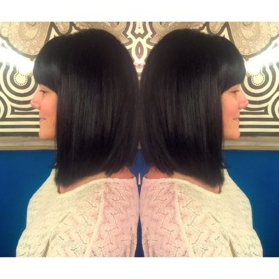 Dark Brunette Swing Bob with Bangs by Chenoa at Urban Betty.jpg