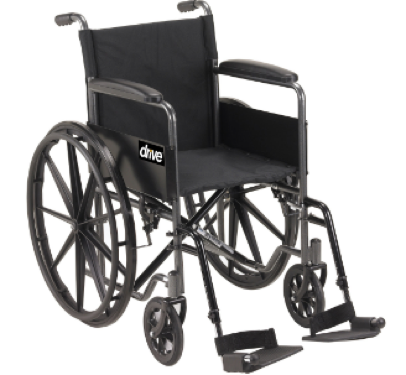 Wheelchair 18'' with S/Away Footrests