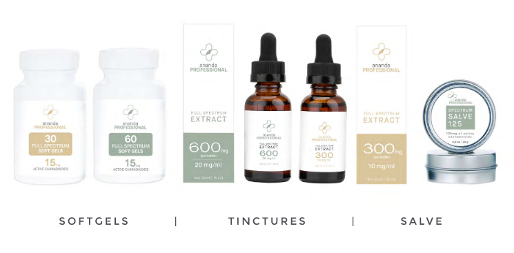 Ananda Professional's Tinctures, Softgels & Salves