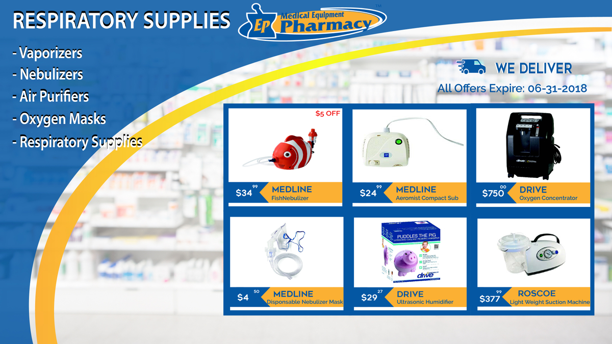 Respiratory devices at EP Medical Equipment Pharmacy