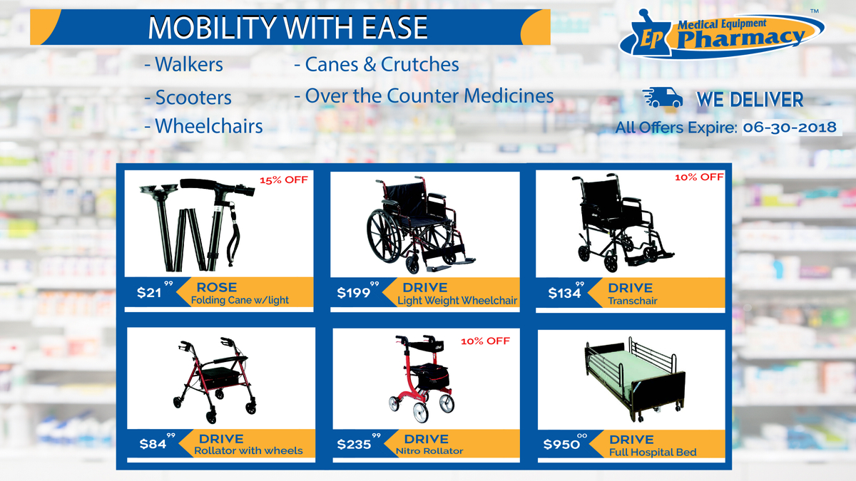 Mobility Aids at EP Medical Equipment Pharmacy