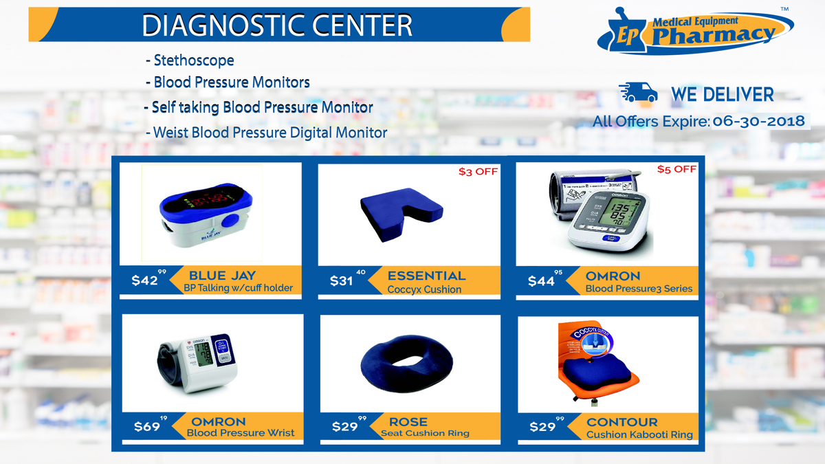 Diagnostic Products at EP Medical Equipment Pharmacy