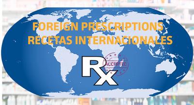 Aceptamos recetas internacionales en EP Pharmacy